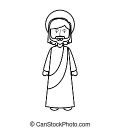 jesuschrist avatar character icon vector illustration design