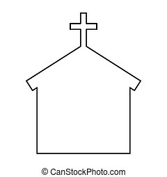 church silhouette isolated icon