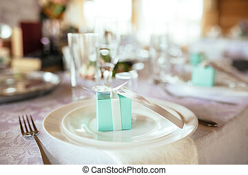 Wedding table appointments with beautiful decor