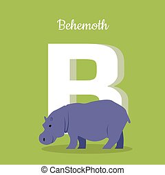 Animals Alphabet. Letter - B