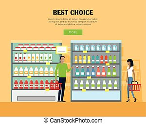 Best Choice Concept Banner in Flat Design. - Best choice in...