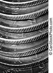 Silver Coins American Money Wealth and Riches - Wealth and...