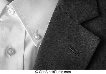 Suit Coat Business Lapel Button Hole - Closeup of suit...