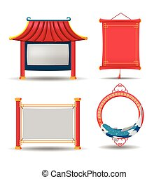 China Border Frame Collection Set Vector