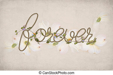 word forever in rope design - word forever in rope pattern...