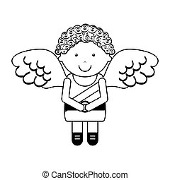 cupid angel character icon vector illustration design