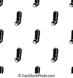 Inhaler icon in black style isolated on white background....