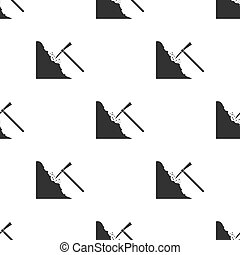 Pickaxe icon in black style isolated on white background....