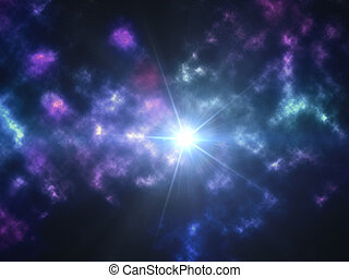 Eternity wallpaper - Bright star on creative colorful...
