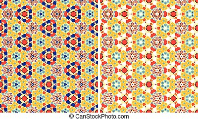 Color kaleidoscope backgrounds set