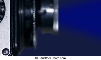 retro film camera macro shot - Camera Lens of old film...