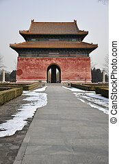 Dragon-headed Turtle Tablet Pavilion at the Ming Tombs in...