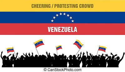 Cheering or Protesting Crowd Venezuela - Venezuela...