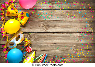 Colorful birthday or carnival background - Colorful birthday...