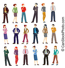 Collection illustrations of business people
