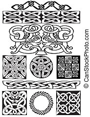 Celtic ornament - Celtic vector art-collection on a white...