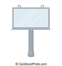 Billboard icon in cartoon style isolated on white...