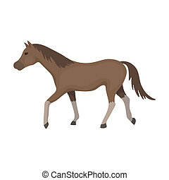 Horse icon in cartoon style isolated on white background....