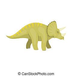 estilo, prehistórico, Ilustración, Dinosaurio, símbolo,...