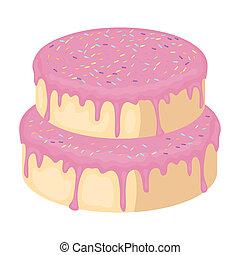 Pasteles, Ilustración, icono, símbolo, estilo, dulce,...
