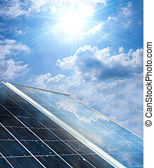 Solar panels - Solar panel under sunny sky