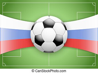 Russia Flag and Championship of football - Flag of Russia...
