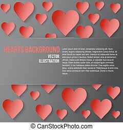 Red Romantic Hearts Background