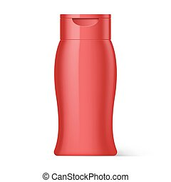 Plastic Bottle Shampoo Packaging - Red Plastic Bottle...