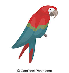 Pirate's parrot icon in cartoon style isolated on white...