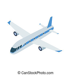 Airplane icon in cartoon style isolated on white background....