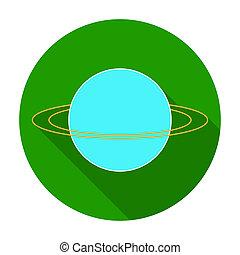 Uranus icon in flat style isolated on white background....