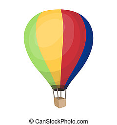 Airballoon icon in cartoon style isolated on white...
