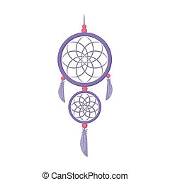 Dreamcatcher icon in cartoon style isolated on white...