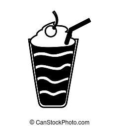 milkshake delicious isolated icon vector illustration design