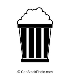 pop corn delicious icon vector illustration design