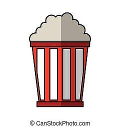pop corn delicious icon vector illustration design