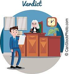 Judicial System Flat Template - Judicial system flat...