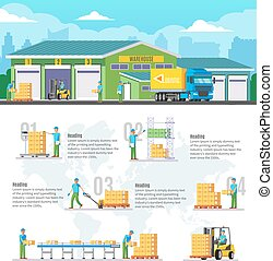 Logistic Warehouse Infographic