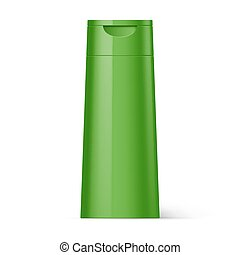 Plastic Bottle Shampoo Packaging - Green Plastic Bottle...