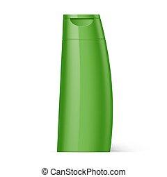 Plastic Bottle Shampoo Packaging - Green Plastic Bottle of...