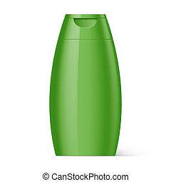 Plastic Bottle Shampoo Packaging - Green Plastic Bottle...