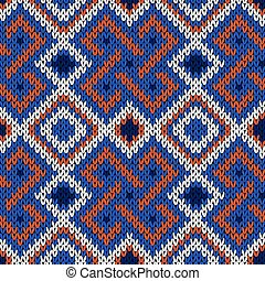 Seamless knitted multicolor pattern - Seamless knitted...