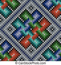 Colorful seamless knitted pattern - Seamless knitted...