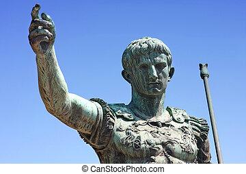 Caesar  - statue of Julius Caesar Augustus in Rome, Italy