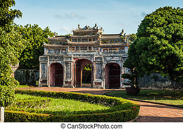 Beautifully designed gate in Hue Imperial Palace
