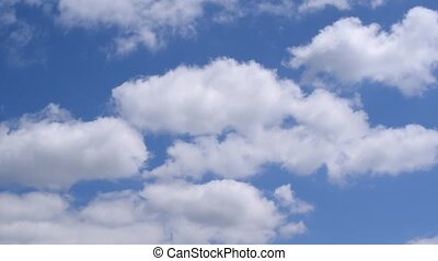 White cumulus clouds in blue sky - Beautiful white cumulus...
