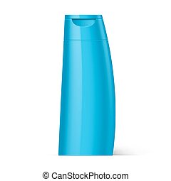 Plastic Bottle Shampoo Packaging - Blue Bottle Plastic...