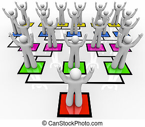 reunión, tropas, -, organización,...