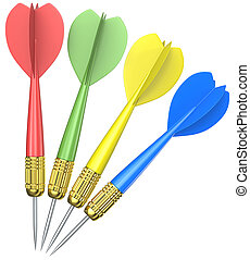 Isolated Dart Arrows.