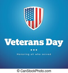 Veterans Day USA banner vector